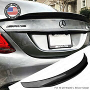 Carbon Fiber Psm Trunk Spoiler Wing 15-20 Mercedes W205 C Class 4dr Amg Sedan
