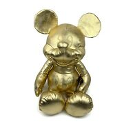 Mickey Mouse Gold Collection Plush 90 Years Large 27 In Nwt Metallic