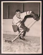 1954 Nhl Toronto Maple Leafs Ted Kennedy Original Vintage Photo Date Stamped