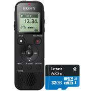 Sony Stereo Digital Voice Recorder Black With Built-in Usb + 32gb Memory Card