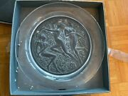 Authentic Large 15 1/2 Lalique Crystal Charger Cote D'or