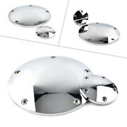Cnc Chrome Derby Timing Timer Cover For Harley Dyna Low Rider Fat Bob 99-17 Flst