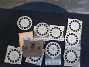 Vintage Sawyer Viewmaster And 9 Reels Disney Monterey Detroit Zoo Sun Valley