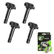 E3 Racing Spark Plugs + Uf582 Ignition Coils For Honda Civic 06-11 1.8l