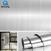 Metal Brushed Gold Silver Diy Removable Sticker Wall Kitchen Appliance House