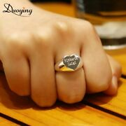 Duoying Custom Ring Personalized Rings Rk55 Jewelry Engraved Heart Antique Men