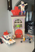 Ghostbusters Original Kenner Firehouse Headquarters Ecto 1ecto2 All Working