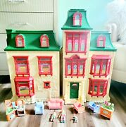 Fisher Price Loving Family Home For The Holidays Christmas Mansion Dollhouse