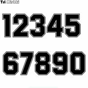 Tri Mishki Hzx1182 Racing Number Stickers Accessories Motorcycle Vinyl Funny