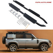 Fit For Defender 2020 2021 Running Boards Side Step Nerf Bars Spare Tire Cover