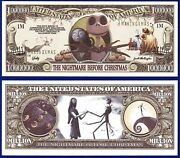 25-nightmare Before Christmas Dollar Bills Collectible-novelty -fake- Money-s2