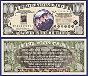 50-women In The Military Million Dollar Bills Collectible- Money- Item -i-1