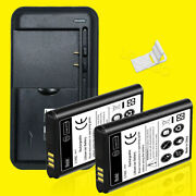 2x 1650mah Battery Universal Charger Bracket For Samsung Rugby 4 Sm-b780a Phone
