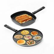 Combo Nonstick Grill Pan With Multi Snack Maker Pancake Pan Appam Maker 7 Pit