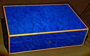 Madrona Blue Humidor 110 Count By Elie Bleu Made In France Nib