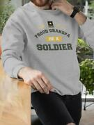 Proud Grandpa Of A Us Soldier Sweatshirt Menand039s -army Designs