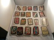 1974 Wacky Packages 6th Series Complete Set Of 33 Most Tan Backs 2 White Backs