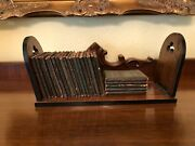 Antique Little Leather Book Library 24 Books 1920s With Antique Book Slide