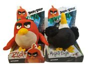 Angry Birds Plush Backpack Clip Keychain 6'' Lot Of 2 New In Box