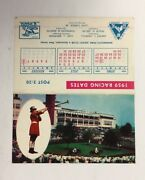 1959 Monmouth Park Horse Racing Schedule Golden Triangle New Jersey Usa Sked
