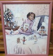 G Rose Once Upon A Time African American Girl Giclee On Canvas Painting