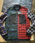 Bnwt Mens Lenvin Patchwork Checked Quilted Jacket Size 50/ 40 Or L Rrp Andpound1415