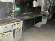Stainless Double Basin Lab Safety Sink W/lights Storage Cabinets And Beaker Dry