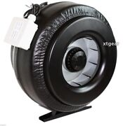 New 10 Inline 760cfm Duct Fan Vent Exhaust Air Cooled Hydroponic Fan Blower