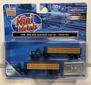 Mini Metals N Scale Peoples Beer White Wc 22 Tractor / Bottle Trailer Set 51198