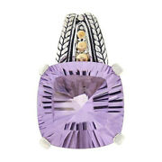 Hsn Bali Designs Sterling Silver And 18k Gold Pink Amethyst Pendant 418