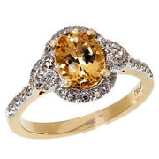 Hsn Passport To Gold 14k Gems Imperial Topaz And Zircon Ring Size 7 899
