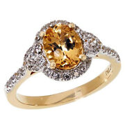 Hsn Passport To Gold 14k Gems Imperial Topaz And Zircon Ring Size 8 899
