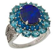 Hsn Colleen Lopez Blue Opal Doublet And Blue Apatite Ring Size 7 999