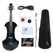 Silent 4/4 Electric Violin Wooden Free Case Solid Wood Ebony Fittings Big Jack