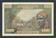 Equatorial African States 500 Francs 1963 P- 4 Chad Unc