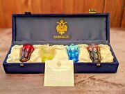 Faberge Colored Crystal Bubbles Shot Glasses In The Original Presentation Case
