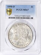 1898-o Morgan Dollar Pcgs Ms 67 Pq Luster Only 42 Graded Higher