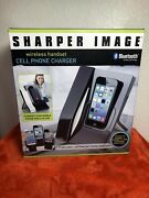 Sharper Image Wireless Bluetooth Handset Iphone 4 5 Samsung Cell Phone Charger S