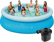 Bestway 10 Feet By 30 Fast Set Inflatable Above Ground Pools For Kids Air Pump