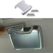 Roof Air Outlet Vent Cover Trim 3pcs For Land Rover Discovery 2004-2016 Silver