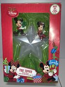 Disney Mickey Mouse Minnie Mouse Christmas Tree Topper In Original Box-free Ship