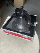 Authentic Cast Iron Cs Bell 4 With Stand And Case - Used By Uofl Football Team