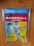 Baseball Yearbook 1957 Mantle Fc Newsstand Cgc 6.5 None Higher Pop One