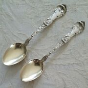 2 R And B Les Cinq Fleurs Sterling Demitasse Spoons Pat. Date And Old Marks