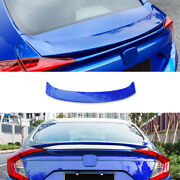 Fit For 2016-2020 Honda Civic 10th Blue Mc Style Rear Boot Spoiler Wing Flap 1pc