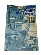 1977 Sears Power Painting With Sprayers Booklet Vintage How To Antique Collect