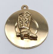 Vintage 14k Solid Gold Cowboy Boot With Spurs Charm / Pendant Signed Jimmy Dean