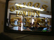 Vintage Griggs London Gin Reverse Printing On Glass Mirror 46 X 35 C.1940