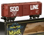 ✅weaver 3-rail Soo Line 40' Ps-1 Box Car W/ Lionel Type Couplers O Scale