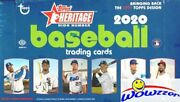 2020 Topps Heritage High Number Baseball Sealed Hobby 12 Box Case-12 Auto/relic